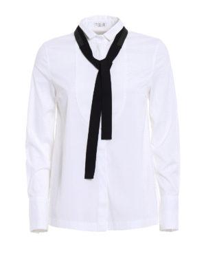 Brunello Cucinelli: shirts - Precious Grosgrain Bow tuxedo shirt