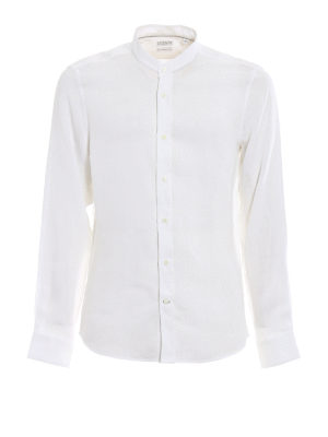 Brunello Cucinelli: shirts - Pure linen light white shirt