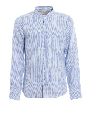 Brunello Cucinelli: shirts - Pure linen striped shirt