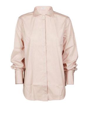 BRUNELLO CUCINELLI: camicie - Camicia in popeline con Shiny Cuff