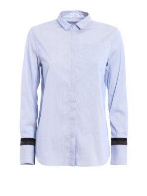 Brunello Cucinelli: shirts - Striped cotton blend shirt