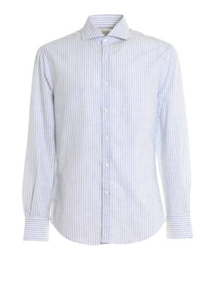Brunello Cucinelli: shirts - Striped pattern cotton shirt