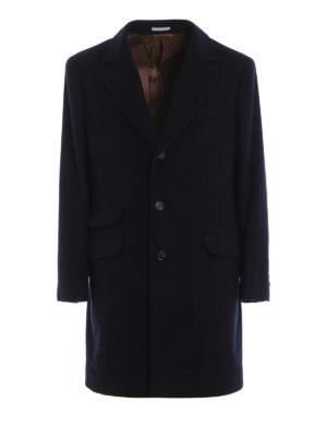 BRUNELLO CUCINELLI: cappotti corti - Cappotto corto in panno di cashmere blu