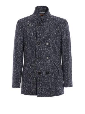 Brunello Cucinelli: short coats - Melange wool cashmere short coat