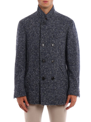 Brunello Cucinelli: short coats online - Melange wool cashmere short coat