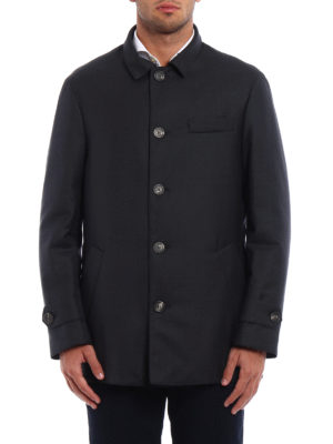 Brunello Cucinelli: short coats online - Water repellent wool caban