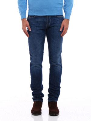 Brunello Cucinelli: straight leg jeans online - Faded cotton denim jeans