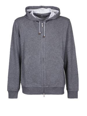 BRUNELLO CUCINELLI: Felpe e maglie - Felpa in cotone melange con cappuccio e zip