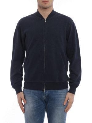 Brunello Cucinelli: Sweatshirts & Sweaters online - Bomber style zipped sweatshirt