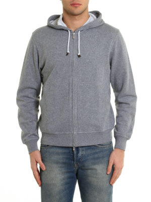Brunello Cucinelli: Sweatshirts & Sweaters online - Soft cotton blend hoodie