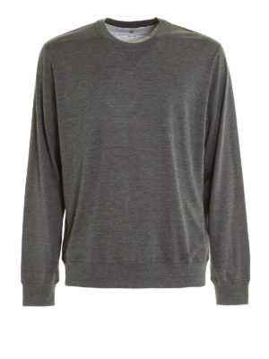 Brunello Cucinelli: Sweatshirts & Sweaters - Silk and cotton jersey sweatshirt