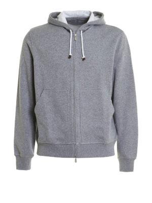 Brunello Cucinelli: Sweatshirts & Sweaters - Soft cotton blend hoodie