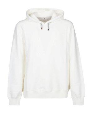 BRUNELLO CUCINELLI: Felpe e maglie - Felpa in cotone stretch bianco