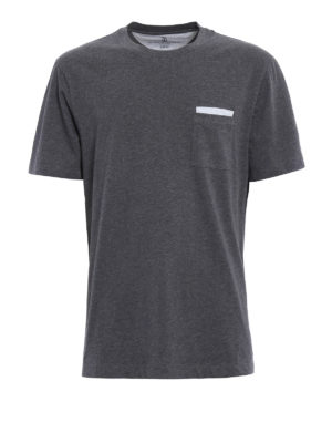 Brunello Cucinelli: t-shirts - Chest pocket jersey cotton T-shirt