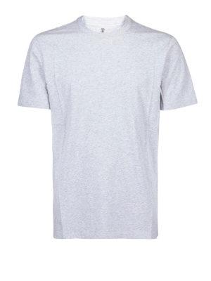 BRUNELLO CUCINELLI: t-shirt - T-shirt slim fit in cotone melange