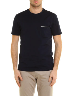 Brunello Cucinelli: t-shirts online - Chest pocket jersey cotton T-shirt