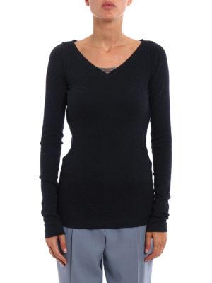 Brunello Cucinelli: t-shirts online - Precious detail long sleeve T-shirt
