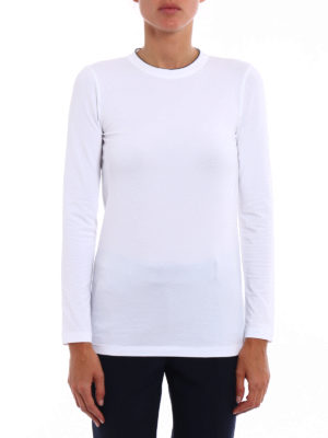 Brunello Cucinelli: t-shirts online - Precious trim crew neck T-shirt