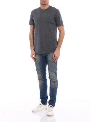 Brunello Cucinelli: t-shirts online - Silk and cotton melange T-shirt
