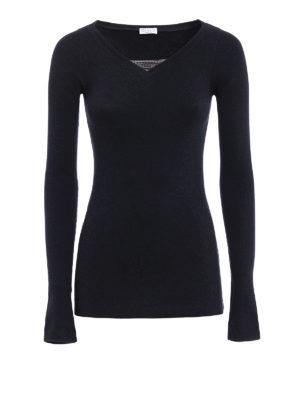Brunello Cucinelli: t-shirts - Precious detail long sleeve T-shirt