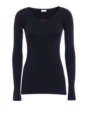 Brunello Cucinelli: t-shirts - Precious detail long sleeve T-shirt