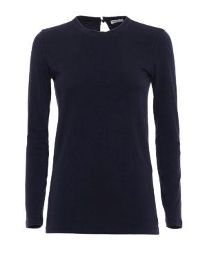 Brunello Cucinelli: t-shirts - Precious trim crew neck T-shirt