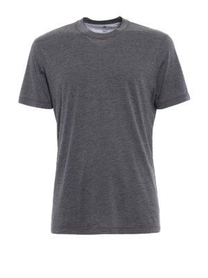 Brunello Cucinelli: t-shirts - Silk and cotton melange T-shirt