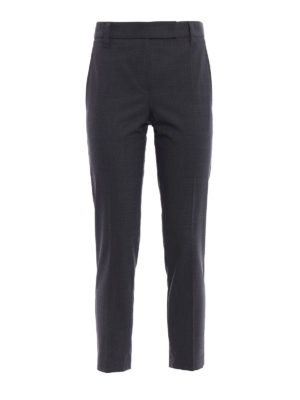 Brunello Cucinelli: Tailored & Formal trousers - Light wool tapered trousers
