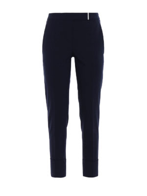 Brunello Cucinelli: Tailored & Formal trousers - Lightweight wool cigarette trousers
