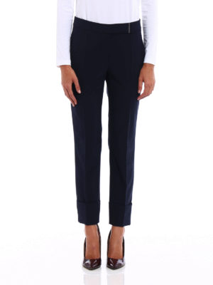Brunello Cucinelli: Tailored & Formal trousers online - Lightweight wool cigarette trousers