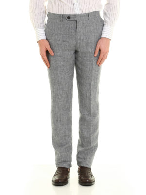 Brunello Cucinelli: Tailored & Formal trousers online - Pure linen trousers