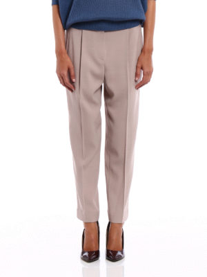 Brunello Cucinelli: Tailored & Formal trousers online - Wool blend fluid trousers