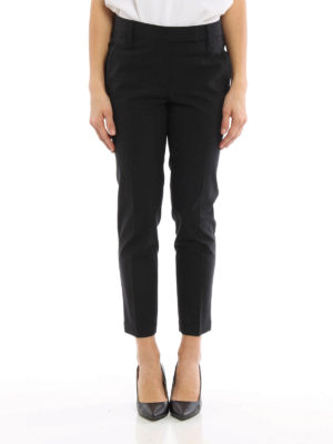 Brunello Cucinelli: Tailored & Formal trousers online - Wool formal tapered trousers