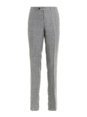 Brunello Cucinelli: Tailored & Formal trousers - Pure linen trousers