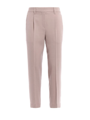 Brunello Cucinelli: Tailored & Formal trousers - Wool blend fluid trousers