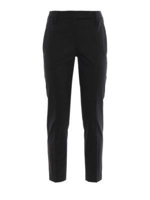 Brunello Cucinelli: Tailored & Formal trousers - Wool formal tapered trousers
