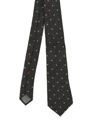 Brunello Cucinelli: ties & bow ties - Wool and silk polka dot tie