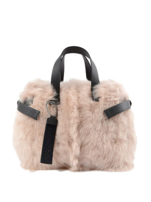 Brunello Cucinelli: totes bags - Embellished shearling tote