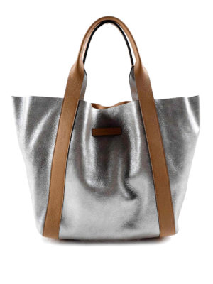 Brunello Cucinelli: totes bags - Leather reversible bag
