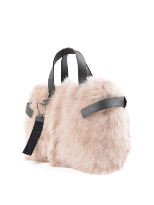 Brunello Cucinelli: totes bags online - Embellished shearling tote