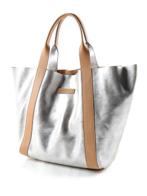 Brunello Cucinelli: totes bags online - Leather reversible bag