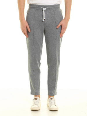 Brunello Cucinelli: tracksuit bottoms online - Cotton trousers with drawstring