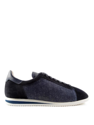 Brunello Cucinelli: trainers - Canvas and suede sneakers