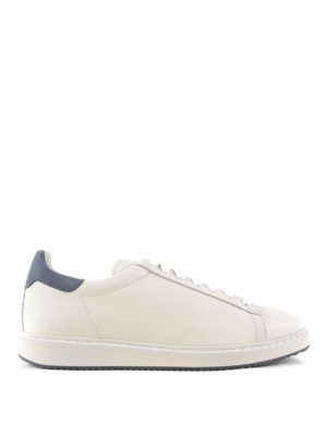 Brunello Cucinelli: trainers - Hammered leather sneakers