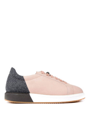 Brunello Cucinelli: trainers - Leather felt colour block sneakers