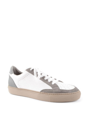 Brunello Cucinelli: trainers online - Apollo leather and suede sneakers