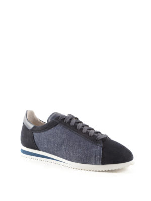 Brunello Cucinelli: trainers online - Canvas and suede sneakers