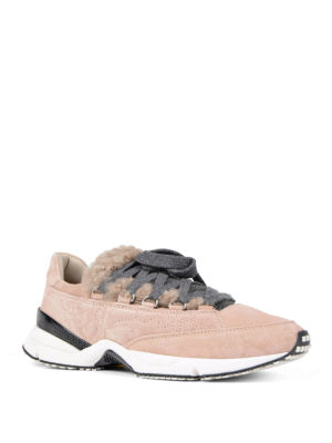 Brunello Cucinelli: trainers online - Precious Detail suede sneakers