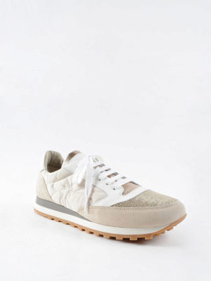 Brunello Cucinelli: trainers online - Shiny suede and nylon sneakers