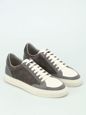 Brunello Cucinelli: trainers online - Suede and leather low top sneakers